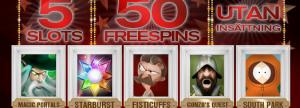 50 gratis freespins